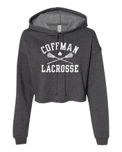 Load image into Gallery viewer, Coffman Lacrosse Crop Top Hoodie