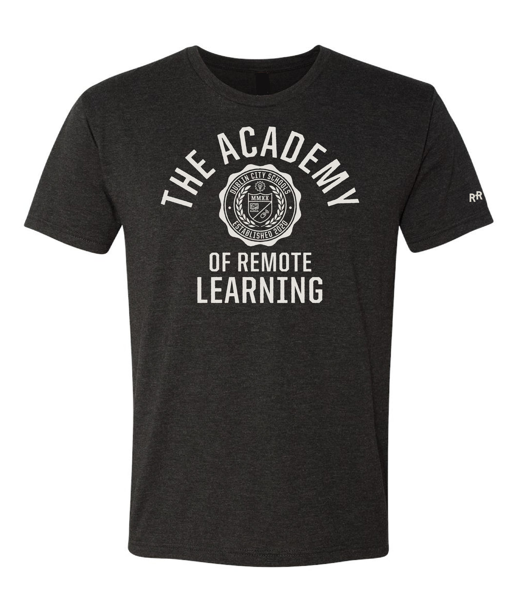 Remote Learning Academy Crest ADULT Tee | Vintage Black