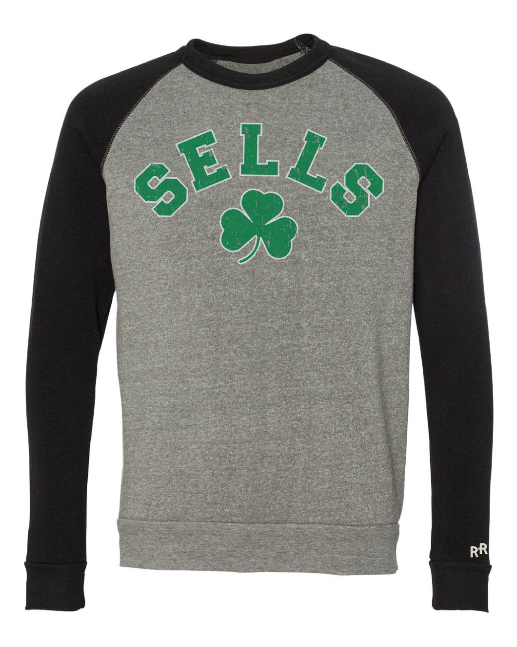 Sells Block Black & Grey Raglan Sweatshirt