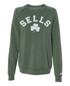 Sells Block Crewneck Sweatshirt | Vintage Green