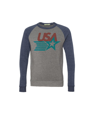 USA Retro Raglan Sweatshirt