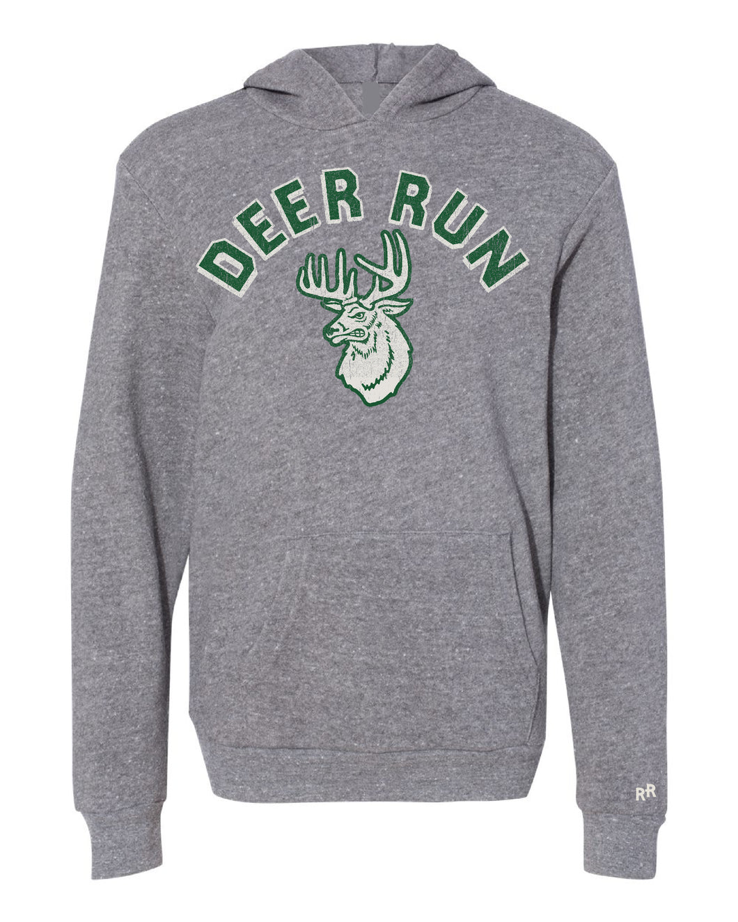 Youth Script Deer Run Mascot Hoodie