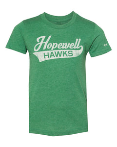Youth Unisex Script Hopewell Tee | Green