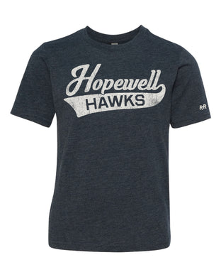 Youth Unisex Script Hopewell Tee | Grey & Navy