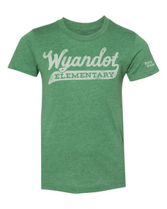 Youth Script Wyandot Tee | Green