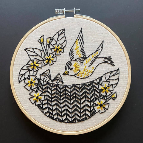 NEW! Goldfinch Embroidery Kit