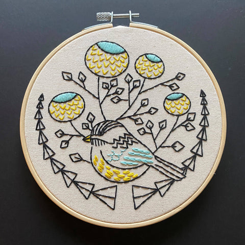 NEW! Chickadee Embroidery Kit