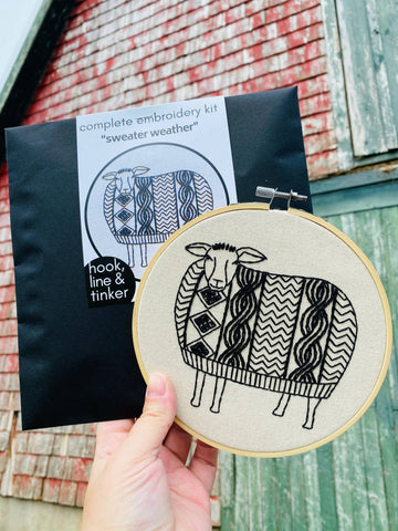 Sweater Weather Embroidery Kit