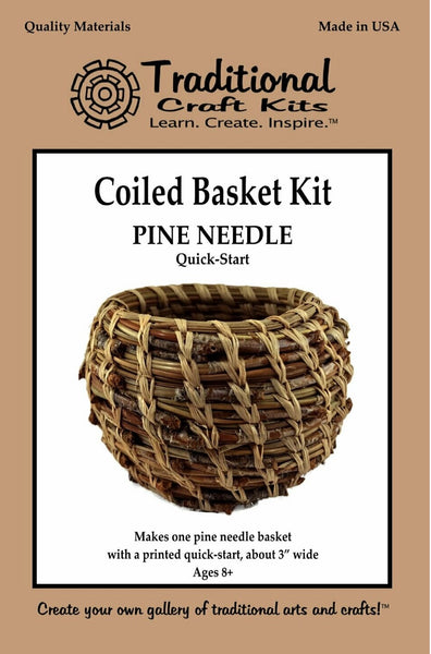 Coiled Basket for Beginners - Quick Start Pine Needle