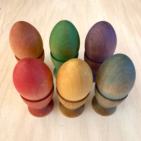 Rainbow Wooden Egg Sorting Set