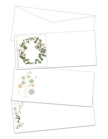 Vintage Botanical Printable Envelopes