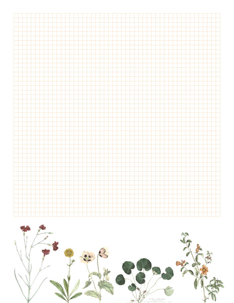 Vintage Flower Printable Graph Paper