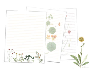 Vintage Flower Printable Lined Paper