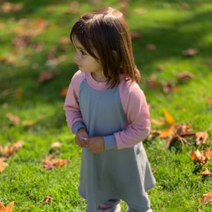 Merino Wool Jersey Raglan Dress, 195 gsm