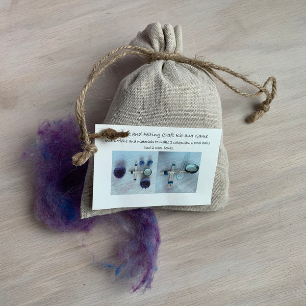 Catapult and Felting Craft Kit and Game - Juniper Earth