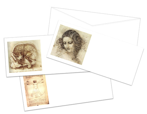 Leonardo da Vinci Printable Envelopes