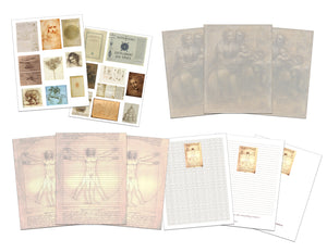 Leonardo da Vinci Journaling, Scrapbooking and Planner Page Printable