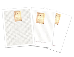 Vitruvian Man by da Vinci Printable Paper Set