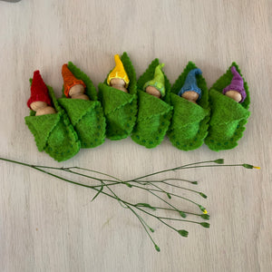 Rainbow Leaf Gnomes Set - Juniper Earth