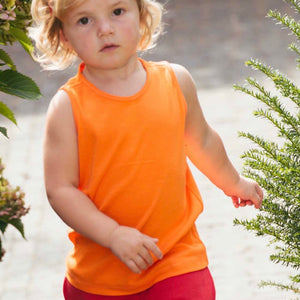 Organic Cotton Tank Top in Goldfish