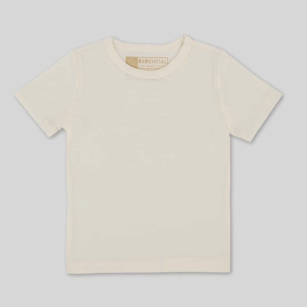 Organic Cotton T-Shirt in Coconut Milk