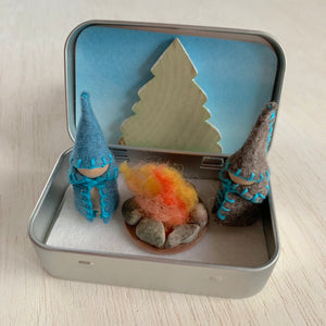 Winter Campfire Creative Play Tin