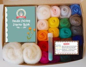 Complete Needle Felting Kit - Classic Colors