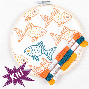 Happy Misfit Embroidery Kit
