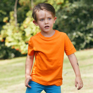 Organic Cotton T-Shirt in Goldfish