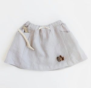 Linen Treasure Skirt in Driftwood