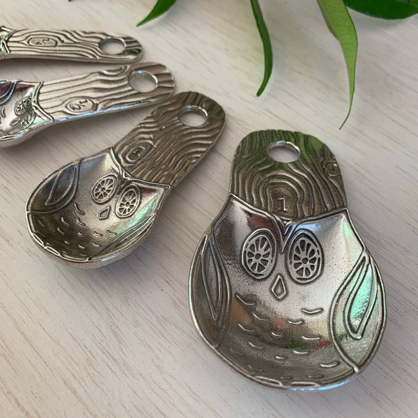 Owl Measuring Spoons - Juniper Earth