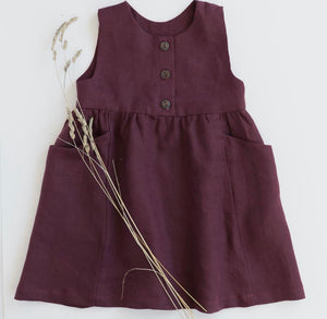 Linen Treasure Dress in Redwood