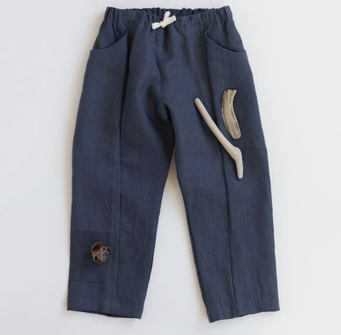 Linen Treasure Pants in Mountain Blue