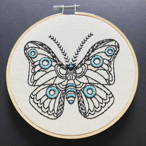 Moth in Cloth Embroidery Kit
