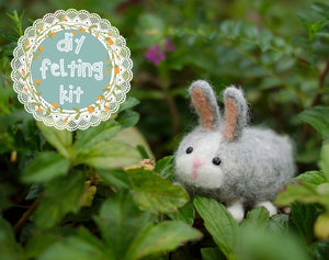 Bunny Rabbit Needle Felting Kit
