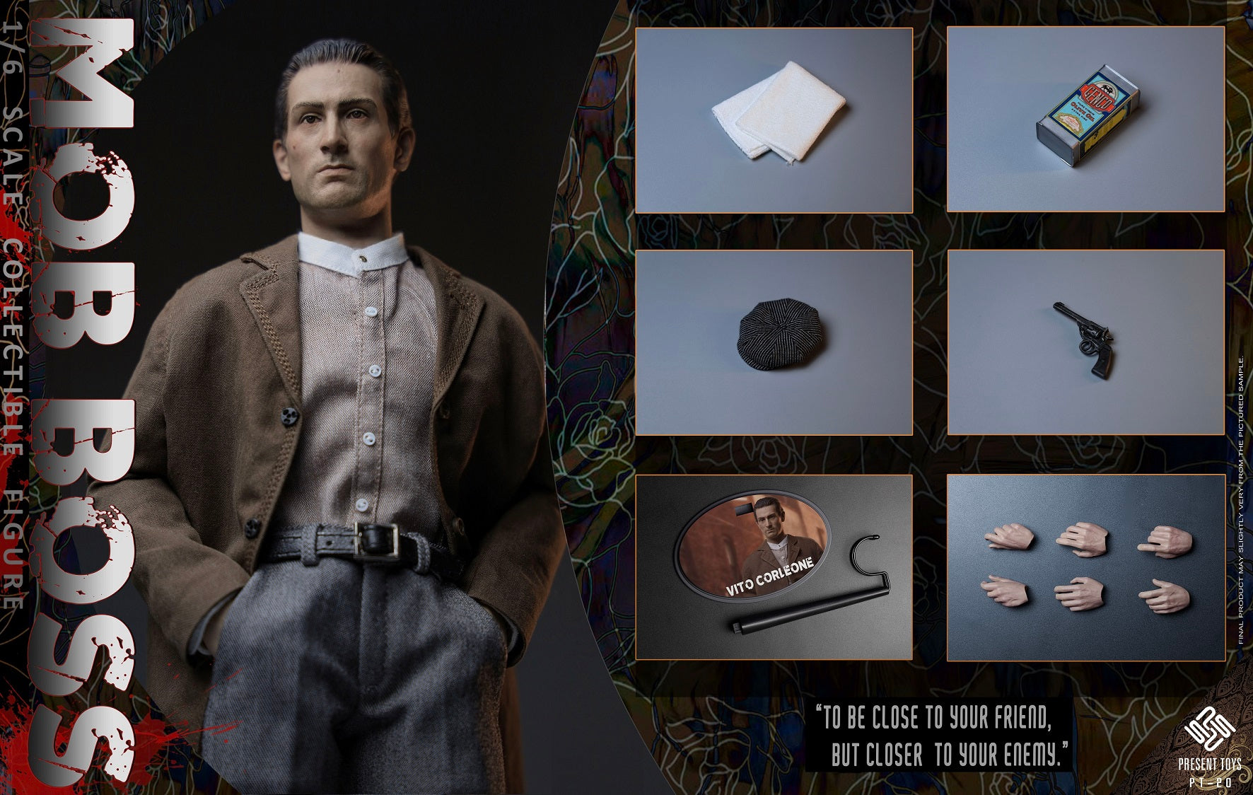 """PRESENT TOYS 1//6 PT-sp09 The second Mob Boss 12/"""" Male Action Figure Set Model"""