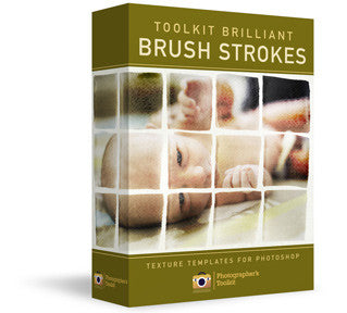 Brilliant Brush Strokes - Photoshop Texture Action Set