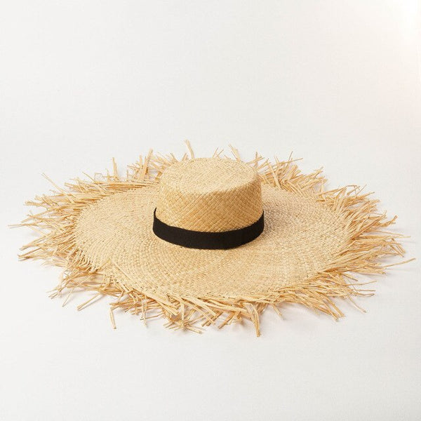 Summer Sun Hats Ladies Super Large Raffia Beach Hat.