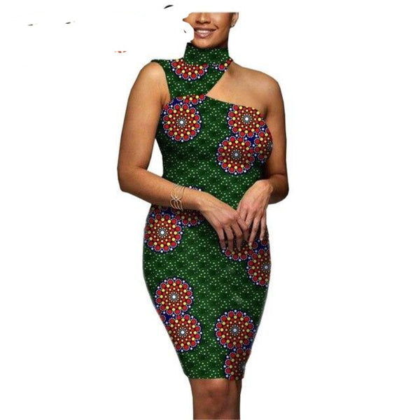 2020 african dresses for women dress party dress pencil dress summer casual sexy dress dashiki print ankara AFRIPRIDE A1925035