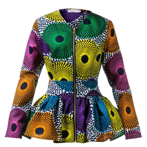 African Clothes Women Shirts High Waist Top African jacket Ankara Print Lady african fashion Clothes