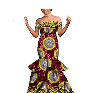 African Dresses for Women for Party Wedding Dinner Evening Maxi Dress Dashiki Print Ankara Sexy Wear AFRIPRIDE S2025005