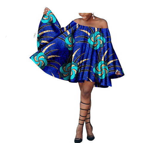 2020 dashiki african summer dresses for women african clothes pure cotton bazin riche ankara print outfit blouse casual S1825058