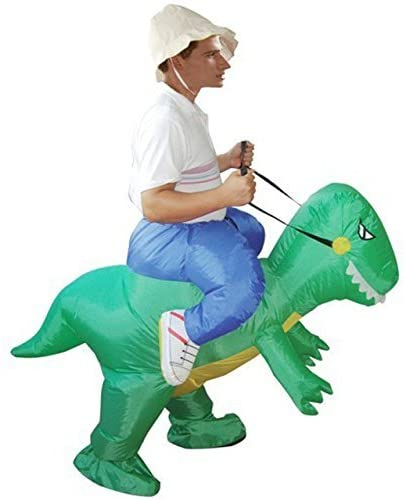 Adult Inflatable Green Dinosaur Costume