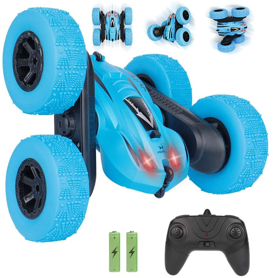 JoyGeek Remote Control Stunt Car for Kids Boys Girls Toys, RC Speed Cars 2.4Ghz 360°Flips High Racing Vehicle with LED Lights 4WD Driving Cars 50 Minutes Play
