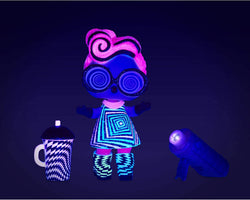 L.O.L. Surprise! Collectable Fashion Dolls - With 8 Surprises, Fashions & Accessories - Includes Black Light Reveals - Lights Glitter Doll