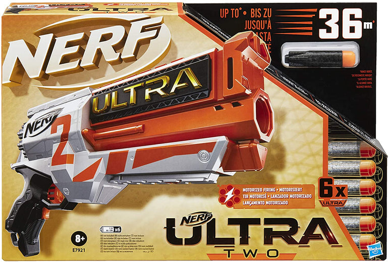 Nerf Ultra Two Motorised Blaster – Fast-Back Reloading – Includes 6 Nerf Ultra Darts – Compatible Only with Nerf Ultra Darts