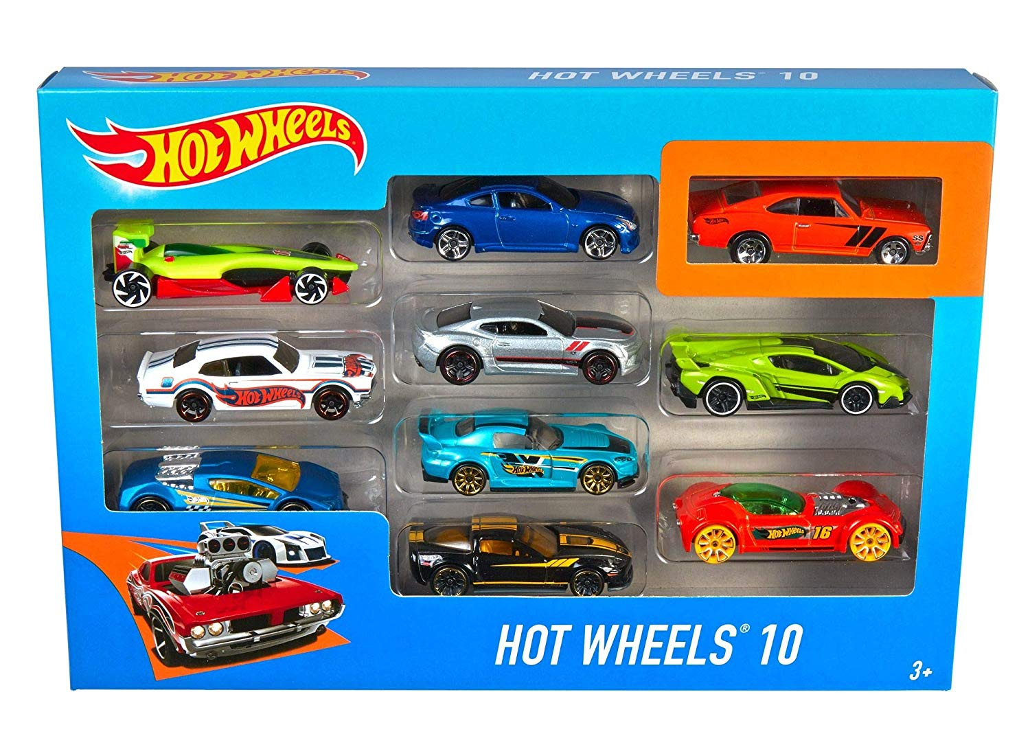 Hot Wheels 54886 10 Car Pack Assortment (Pack May Vary)