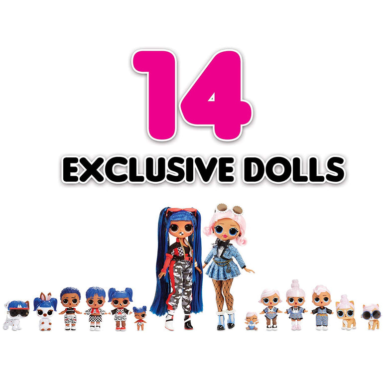 Amazing Gift Fun Family NEW 2 Playset LOL Surprise SET 14 Dolls 70+ Surprises