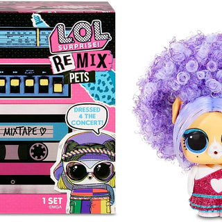 L.O.L. Surprise! Remix Pets - Collectable - 9 Surprises with Real Hair, Accessories & Surprise Song Lyrics