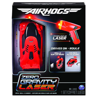 Air Hogs 6054126 Zero Gravity Laser, Laser-Guided Real Wall-Climbing Race Car, Red